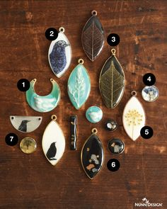 7 MORE ways that you can create unique pieces of wearable art with Nunn Design 2-Part Resin and Crystal Clay.