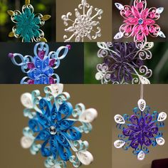 Items similar to Sale! Set of 5 Assorted Colors Quilled Paper Snowflakes Christmas Ornament or Decoration Handmade on Etsy Paper Christmas Ornaments, Snowflake Ornaments, Handmade Ornaments, Christmas Angels, Gnome Ornaments, Quilling Christmas, Christmas Candle, Christmas Wedding, Christmas Tree
