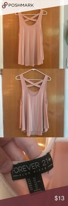 5c0275f8b19 Pink Cross Back Tank Top Forever 21. Plus SizeForever ...