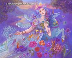 This painting, EARTH MOTHER will be in my new ebook Mystical Fairies.  It will be available September 6th at Smashwords.com. Preorders are available for iBooks at the discounted price of $2.99. And feel free to download a sample here: https://www.smashwords.com/books/view/460114