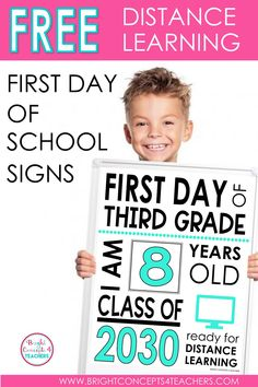 These free printable first day of school signs are great for taking that all-important picture on the first day of school! #backtoschool #firstdayofschool #freeprintablesigns