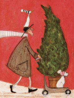 Mounted Print 40 x 40cm Sam Toft searching For The Legendary Sea Pasty