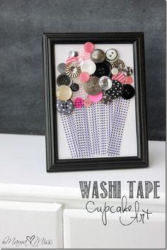 Washi Tape Cupcake Art #washitape #diy