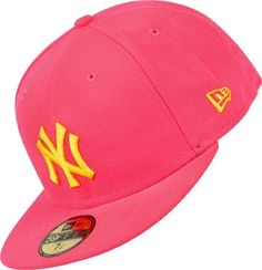 New Era MLB Contrast NY Yankees Cap neon pink gelb New Era Fitted a8d371c06adc