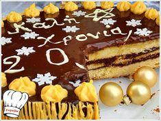 New Year's Cake, Greek Recipes, Cake Pops, Tiramisu, Sweet Home, Sweet Sweet, Deserts, Birthday Cake, Sweets