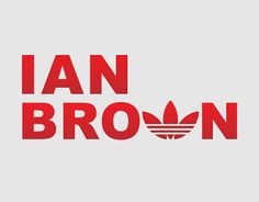 Self initiated project of the Adidas logo set within Ian Browns name. Adidas being a favourite brand of his