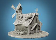 ArtStation - Pumpkin, Farmer's house, Luca Previdi