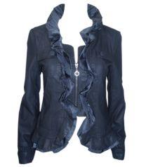 Navy Ruffle Jacket Must Haves, Athletic, Zip, Navy, Jackets, Fashion, Hale Navy, Down Jackets, Moda