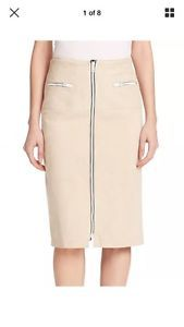 New arrivals eBay! #RAG&BONE Alison Suede Zip Pencil Skirt Oxford Tan Leather Sz 2 XS $995 NEW NWT