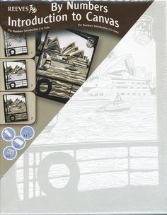 Reeves Acrylic By Numbers Introduction to Canvas Kit Complete Sydney Opera House