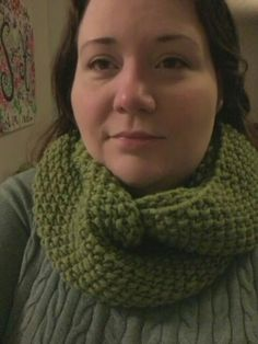 Gap inspired seed stitch cowl. Used gauge 5, bulky in Woolspun by Lionbrand. Cast on 131 stitches on circular needles. Knit 1, purl 1 until knitting reaches 8, 10 or even 15 inches in width. Cast off in pattern loose and sloppy to insure stretch. See Gap-tastic Cowl on Ravelry for more pictures from knitters.