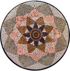 Let the Corpse Flower mosaic medallion bring your exquisite charm to your indoor and outdoor living spaces. Available in 4 sizes the mesh backing helps separate larger pieces for easy installation. Mirror Mosaic, Marble Mosaic, Mosaic Wall, Mosaic Glass, Mosaic Tiles, Stained Glass, Mosaic Art Projects, Mosaic Crafts, Mosaic Designs