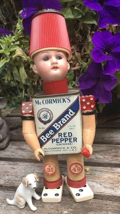 Puppen & Zubehör OOAK Steampunk Assemblage ARTIST DOLL Antique Mixed Media GOOGLY Head 'Colman'