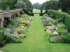 Garden History Matters: September 2012, twin herbaceous border at Arley Hall. It makes me drool.