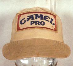 b38d503a377 vtg 70s 80s Camel Cigarettes Pro Snapback Trucker Hat Cap patch mesh back  Hat Hairstyles