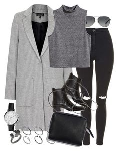 A fashion look from September 2015 featuring cropped shirts, grey coats and ripped skinny jeans. Browse and shop related looks. Casual Fall Outfits, Edgy Outfits, Winter Outfits, Cute Outfits, Preppy Style, My Style, Unisex Fashion, Womens Fashion, Future Clothes