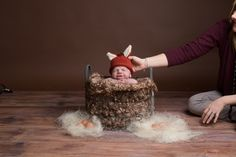 Showing that safety is paramount when shooting a newborn