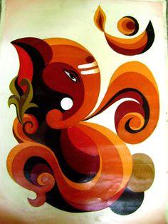 Ganesha Drawing, Lord Ganesha Paintings, Ganesha Art, Ganesh Rangoli, Rangoli Ideas, Rangoli Designs, Easy Rangoli, Indian Paintings, Art Paintings