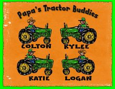Papa's Lil' Tractor Buddies Personalized T Shirt for PAPA, DAD, Grandpa Perfect Gift for HIM! This Will Be His Favorite Gift this Year! by TShirts4TheFamily on Etsy