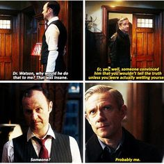 """Sherlock """"The Final Problem"""". Season Episode >>>I love John for this. John Watson for the crazy, kid-like approach! Sherlock Fandom, Sherlock John, Sherlock Quotes, Sherlock Season 4, Sherlock Poster, Funny Sherlock, Sherlock Moriarty, Sherlock Tumblr, Sherlock Doctor Who"""