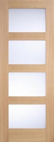 The Internal Oak Contemporary 4 Light Frosted Glazed Door is a high quality part from the MODA Doors collection. • Material: Oak • Core: Solid • Finish Type: Un