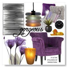 """Gorgeous"" by oregonelegance ❤ liked on Polyvore featuring interior, interiors, interior design, home, home decor, interior decorating, Art Addiction, Designers Guild, CB2 and Daum"