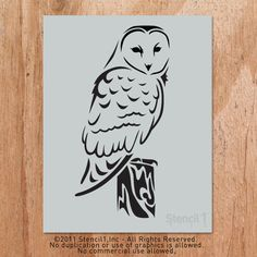 Barn Owl Stencil artwork, n/a, accents