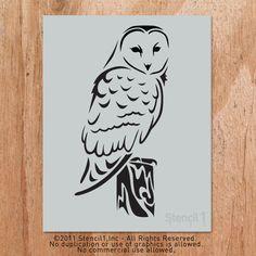 Barn Owl Stencil artwork, n/a, accents