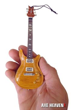 "6"" Mini PRS Guitar Ornament handmade from solid wood."
