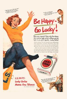 CLASSIC LUCKY STRIKE Ad Vintage Cigarette by EncorePrintSociety