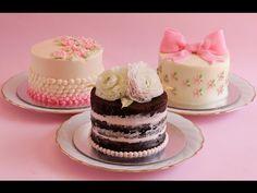 3 mini tortas con buttertcream fáciles y hermosas, Si te gusta dinos HOLA y dale a Me Gusta MIREN …  |  Receitas Soberanas