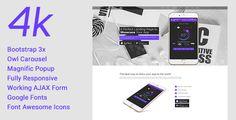 4k - Responsive App Landing Page