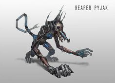 Reaper Pyjak by AndrewRyanArt on DeviantArt Mass Effect Games, Mass Effect 1, Mass Effect Universe, Creature Feature, Creature Design, Mass Effect Reapers, Character Art, Character Design, Character Inspiration