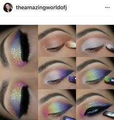 Gorgeous Makeup: Tips and Tricks With Eye Makeup and Eyeshadow – Makeup Design Ideas Makeup Eye Looks, Eye Makeup Steps, Beautiful Eye Makeup, Smokey Eye Makeup, Eyebrow Makeup, Eyeshadow Makeup, Eyeshadows, Colorful Eye Makeup, Simple Makeup