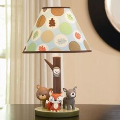 Carter`s Forest Friends Nursery Lamp Base and Shade Set Forest Friends Nursery, Forest Nursery, Woodland Nursery, Baby Boy Rooms, Baby Boy Nurseries, Baby Cribs, Contemporary Nursery Decor, Woodland Baby Bedding, Childrens Lamps