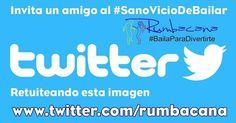 Invita un amigo al #SanoVicioDeBailar compartiendo esta imagen en tu #Instagram #Rumbacana #BailaParaDivertirte