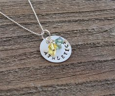 Oakland Athletics Hand Stamped Metal Necklace