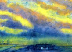 Marsh Landscape, 1935-1940 - Emil Nolde (German, 1867-1956) Expressionism