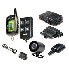 Pyle PWD901 LCD 2-Way Remote Start Security System with Advanced Impact Sensor by Pyle. $126.83. From the Manufacturer                      125dB  Siren Click here for a larger image     Vehicle Security System Click here for a larger image     One 2-way LCD Transmitter & One 4-Button Water Resistant Transmitter Click here for a larger image   Vehicle Security The PWD901 is the new bread and butter of the Pyle Vehicle Security line-up. With a built-in relay for parking lights, t...