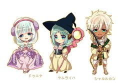 MAGI: The Labyrinth of Magic - Dunya, Yamuraiha, & Sharrkan