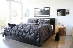 ikea malm bed (high) Plus Target Puckerd bedding. Target Bedroom, Target Bedding, Bedding Sets, White Room Decor, Bedroom Decor, Bedroom Ideas, Cosy Bedroom, Bedding Decor, Bedroom Designs