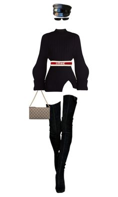 """Mia"" by the-dayze ❤ liked on Polyvore featuring Gucci, Jacquemus and Ruslan Baginskiy"