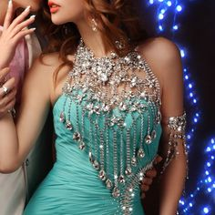 Luxury vintage jewelry women long crystal necklace chain body chain jewelry accessories bridal shoulder strap wedding bijouterie