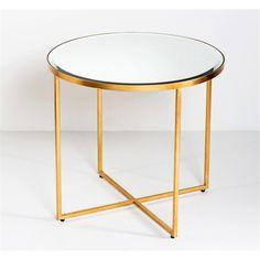 Interlude Home Marissa Side Table - Gold Leaf 159006