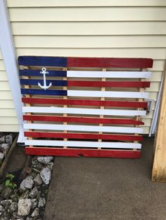 This was my USNavy version of a pallet flag I made