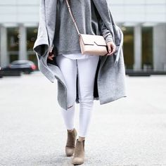 Gray + blush make the perfect combo. #ootd : @thatsotee