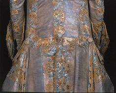 Detail of the fabulous wedding frock coat (back view) of King Gustave III of Sweden. 1766.