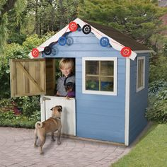 The Forest Charlie Traditional Kids Playhouse with Stable Door offers a generous apex height of so children won't grow out of this fantastic Wendy house any time soon. Playhouse With Slide, Garden Playhouse, Build A Playhouse, Playhouse Outdoor, Garden Sheds, Childrens Wooden Playhouse, Playhouses For Sale, Tongue And Groove Walls, Plastic Sheds