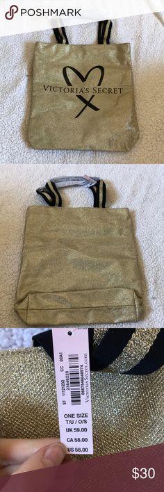 Brand new gold VS tote Gold VS tote Victoria's Secret Bags Totes