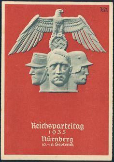 3rd Reich Germany 1935 Reichsparteitag Party Rally Propaganda Card